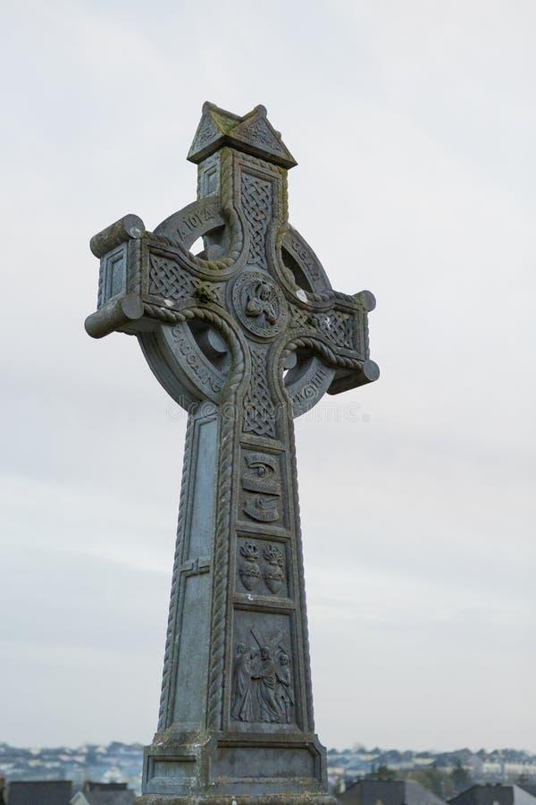 Celtic cross. From Rahoon cemetery in Galway, Ireland stock photos
