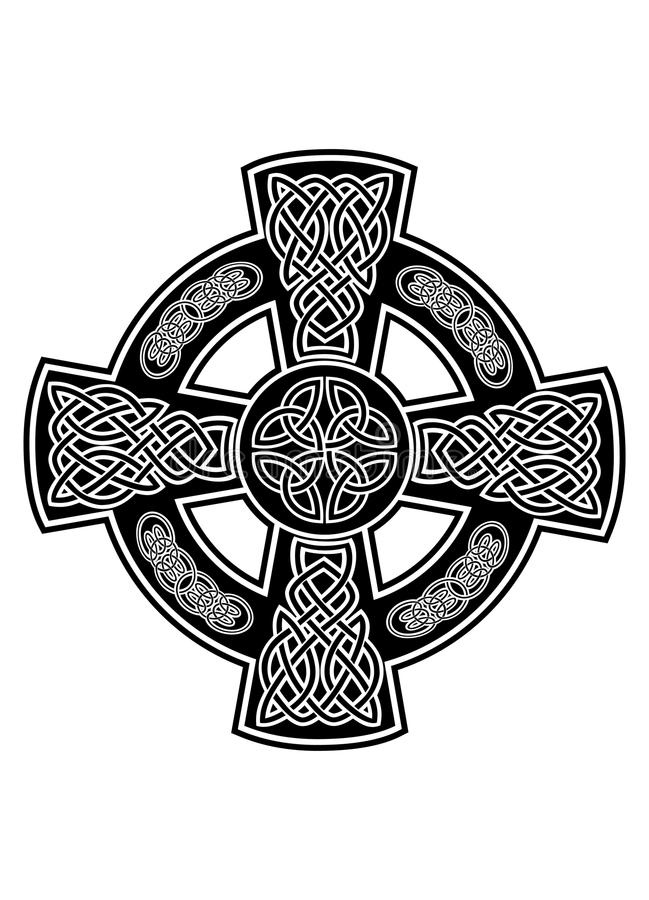 Download Celtic cross2 stock vector. Image of holy, black, design - 24712387