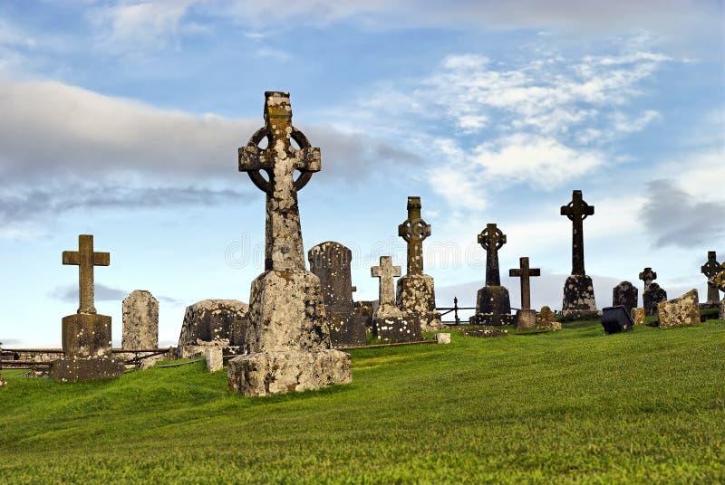 celtic crosse ireland royaltyfri fotografi