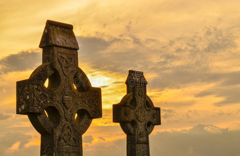 Celtic crosses royalty free stock image