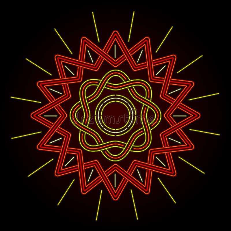 Celtic de neón Sun libre illustration