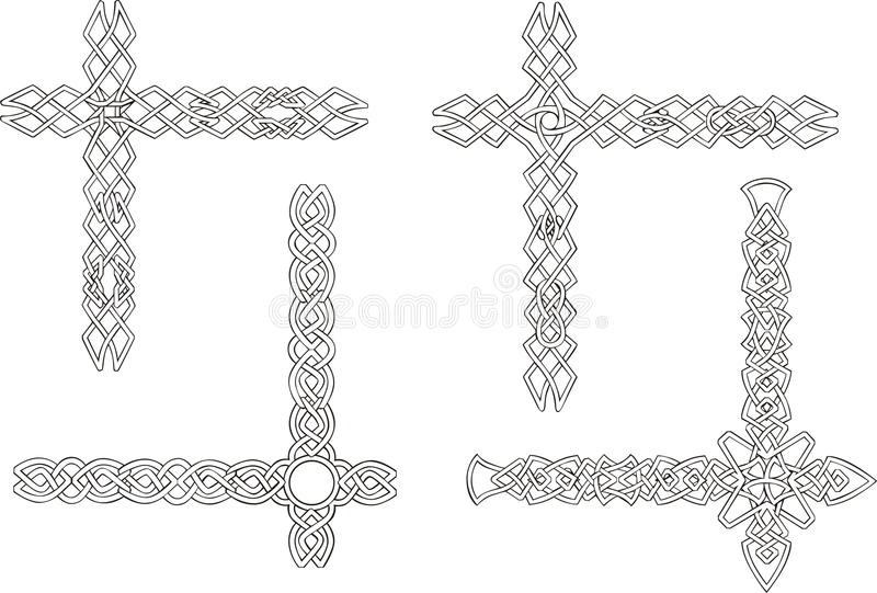 Celtic Decorative Knot Corners Royalty Free Stock Image