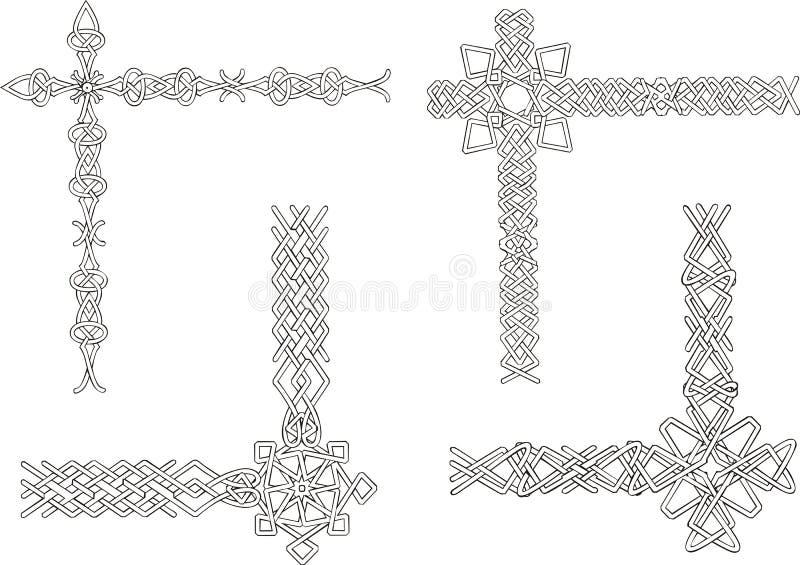 Download Celtic Decorative Knot Corners Stock Vector - Image: 29245740