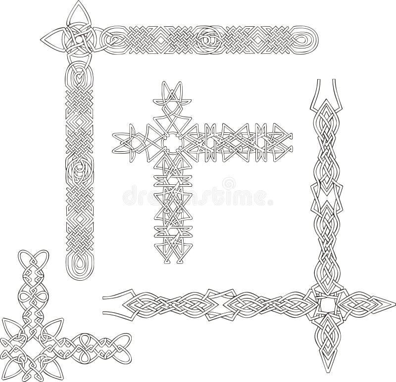 Celtic Decorative Knot Corners Stock Photos