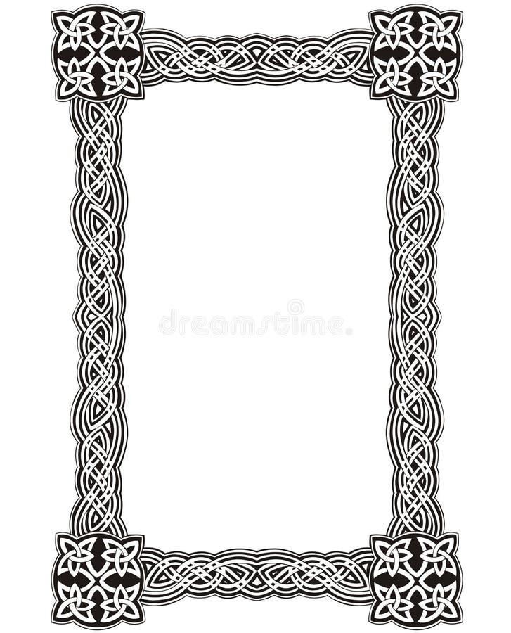 Celtic decorative knot frame vector illustration