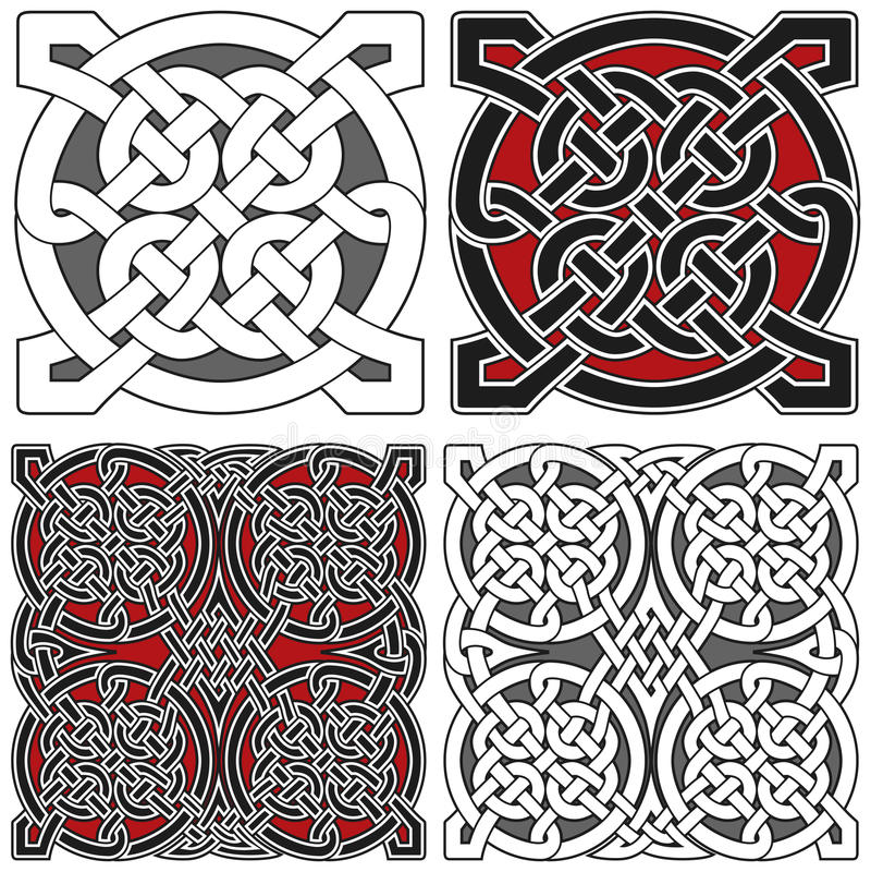 celtic designelementset vektor illustrationer