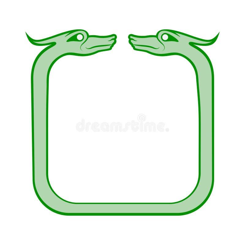 Celtic dog frame royalty free illustration