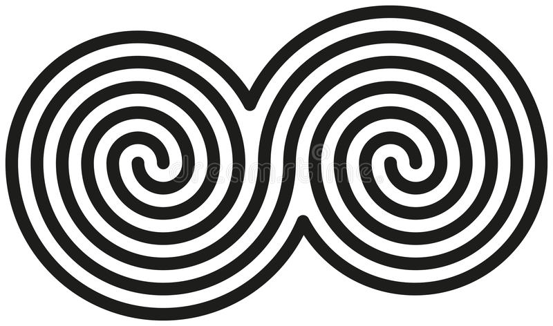 Celtic Double Spirals royalty free stock images