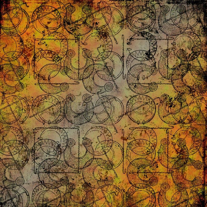 Celtic druid tools 3 - Grungy background stock photo