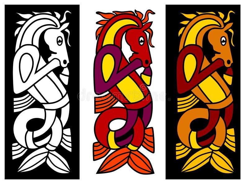celtic elementprydnad royaltyfri illustrationer