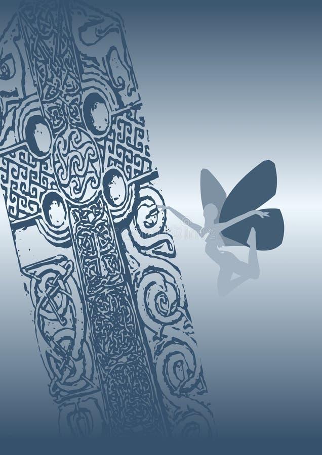 celtic faery arkivbild