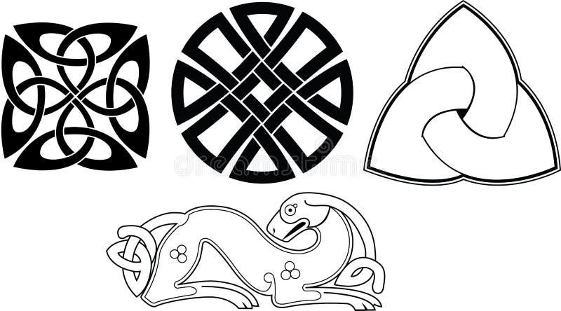 celtic fnurra vektor illustrationer