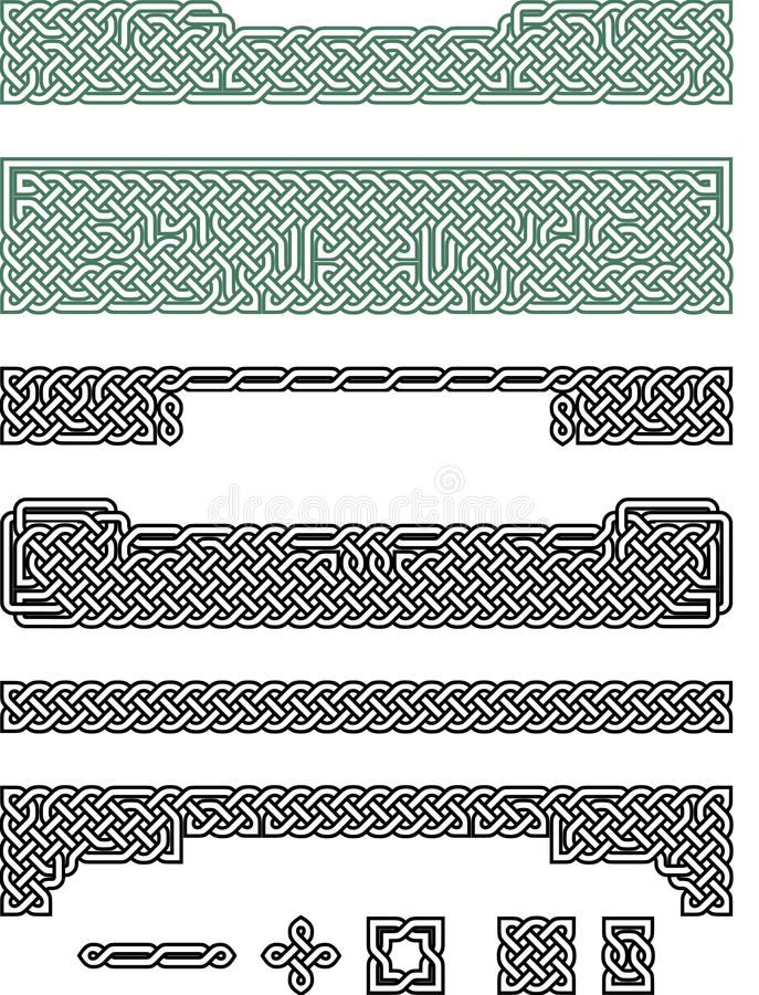 Celtic fnurraavståndsmätare och titelrader royaltyfri illustrationer