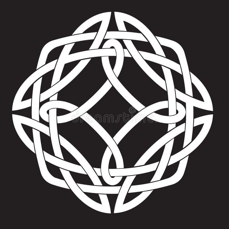 Celtic fnurramotiv stock illustrationer