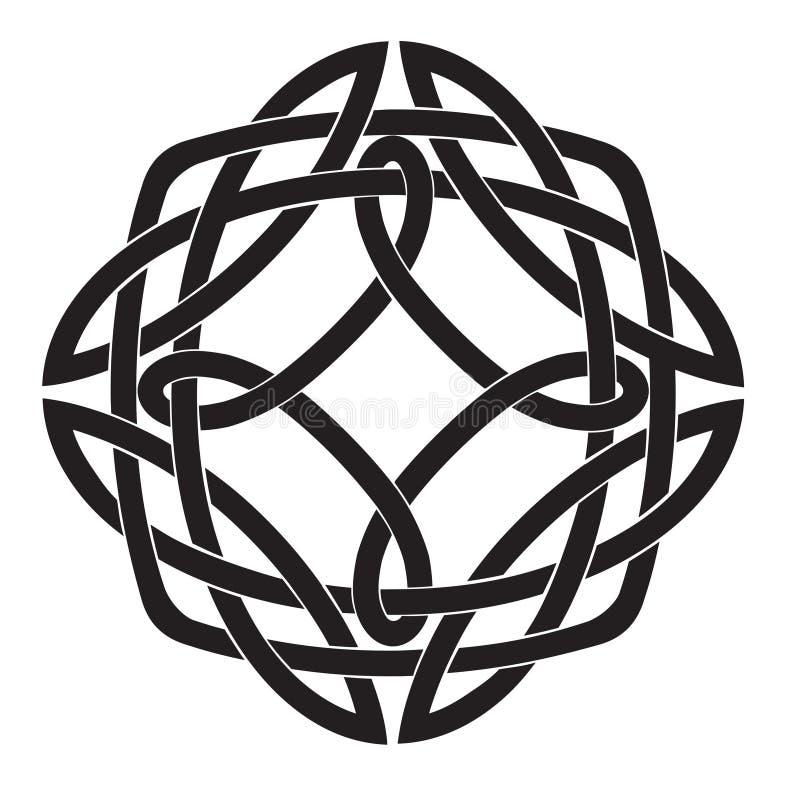 Celtic fnurramotiv royaltyfri illustrationer