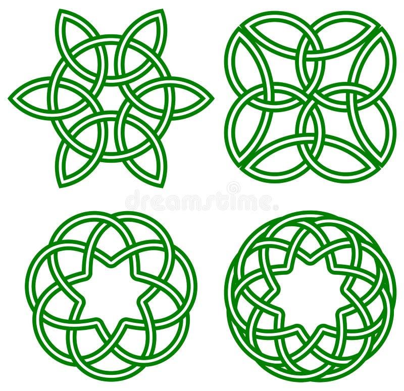 celtic fnurror royaltyfri illustrationer