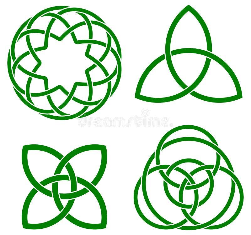 celtic fnurror vektor illustrationer