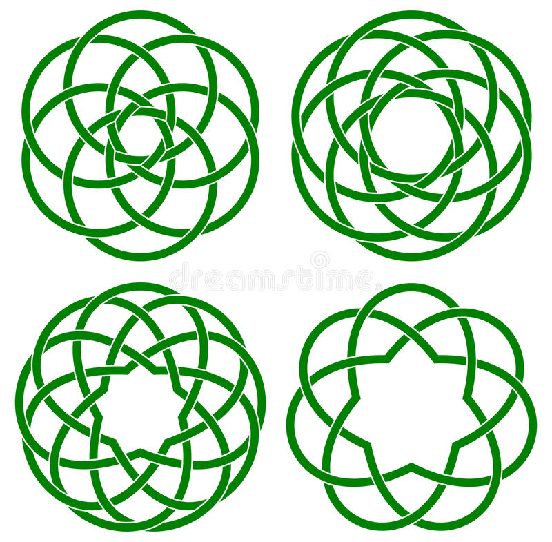 celtic fnurror stock illustrationer