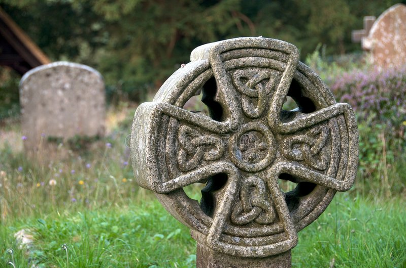 Celtic headstone royalty free stock photography