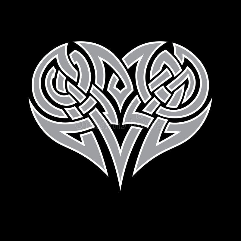 Celtic heart stock photo