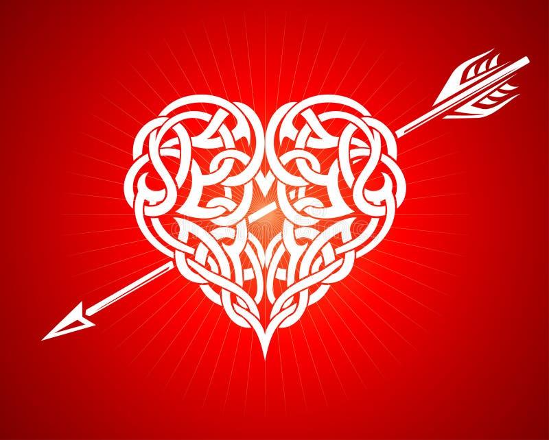 Celtic Heart and Arrow vector illustration