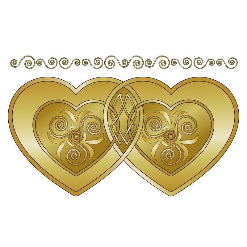 Celtic Hearts royalty free stock photos