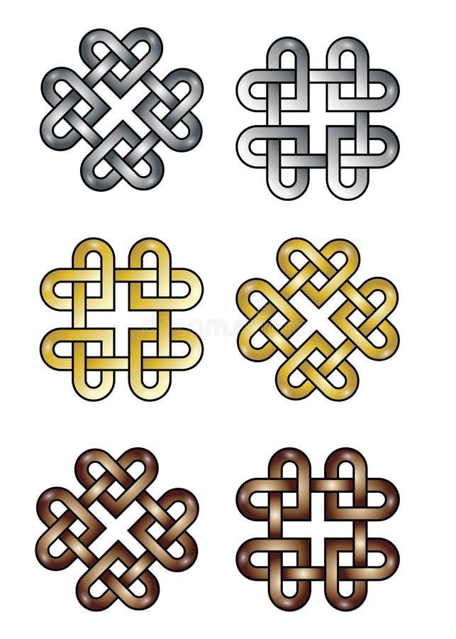 celtic hjärtafnurra royaltyfri illustrationer