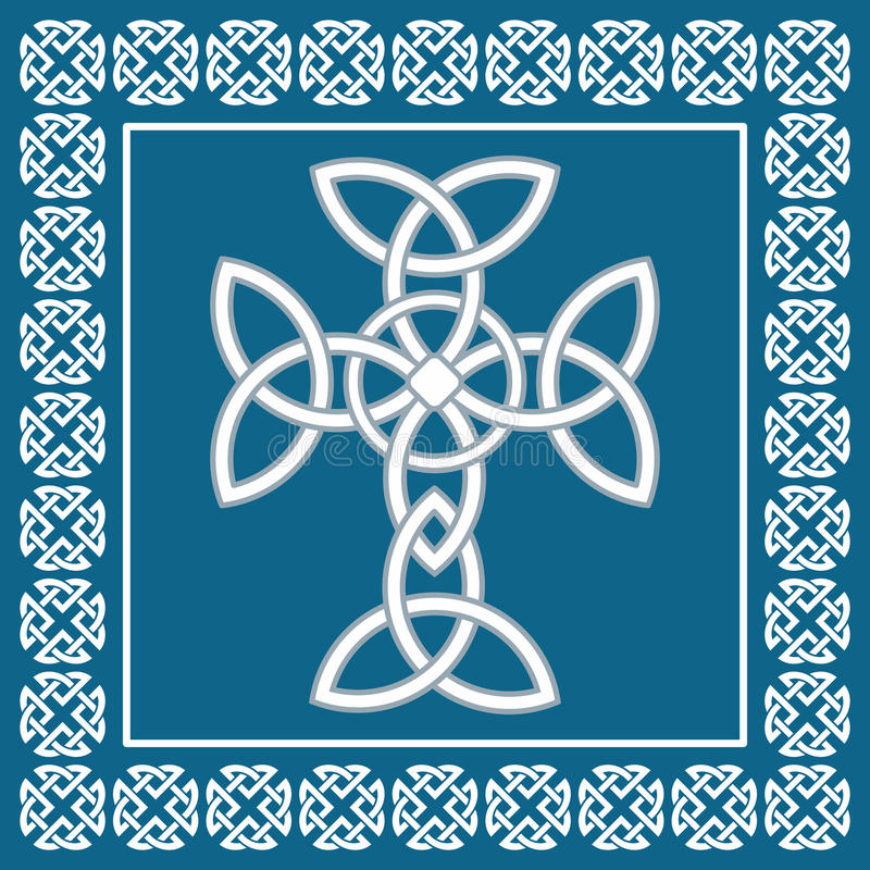 Celtic irish cross,symbolizes eternity,vector illustration vector illustration