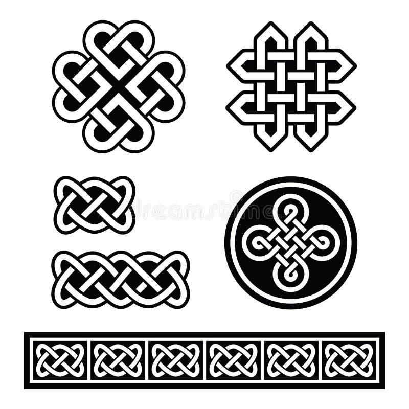 Celtic Irish patterns and braids - royalty free illustration