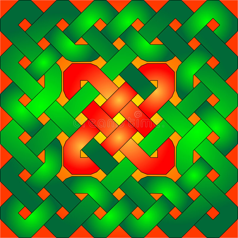 Download Celtic Knot stock vector. Image of festive, green, background - 4712208