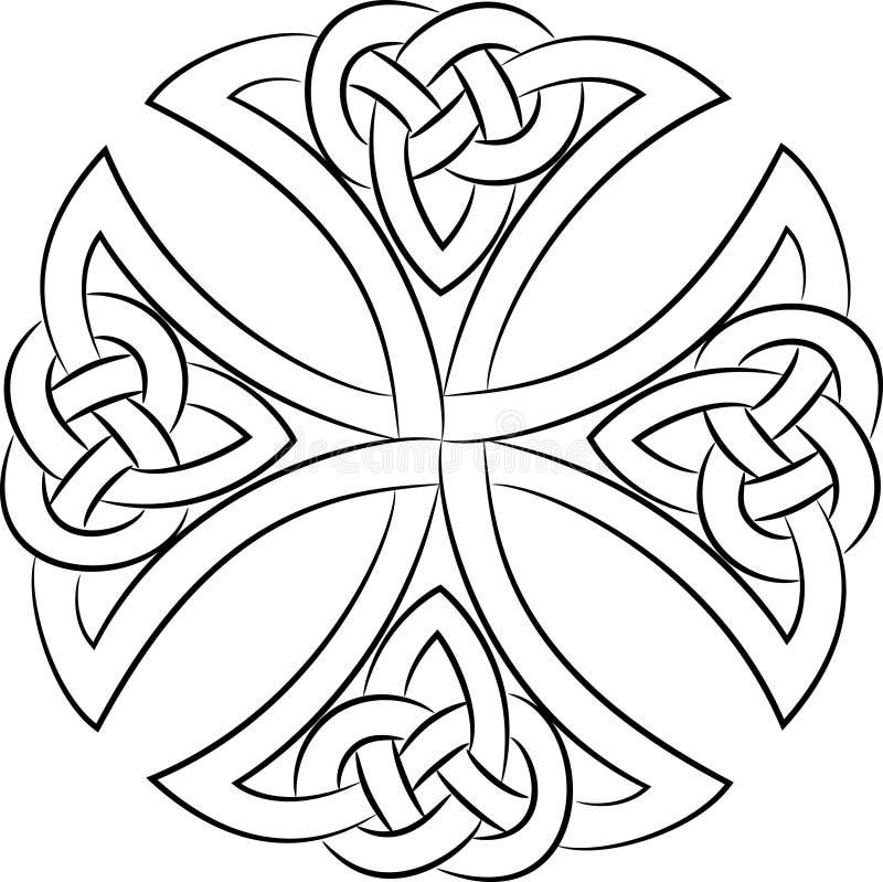 Celtic knot cross royalty free illustration