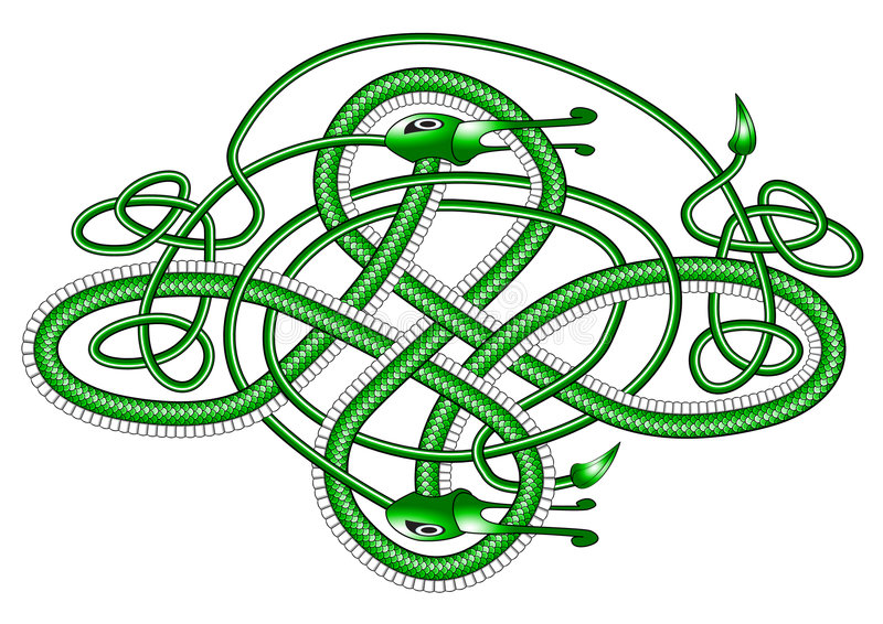 Download Celtic Knot Dragon; Royalty Free Stock Photography - Image: 5153517
