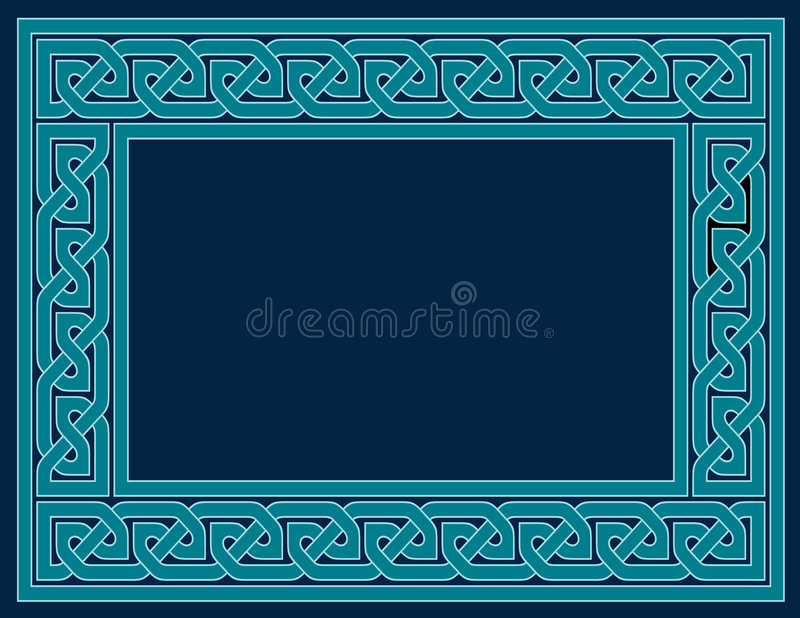 Download Celtic Knot Frame, Teal Blue Royalty Free Stock Photography - Image: 5912647