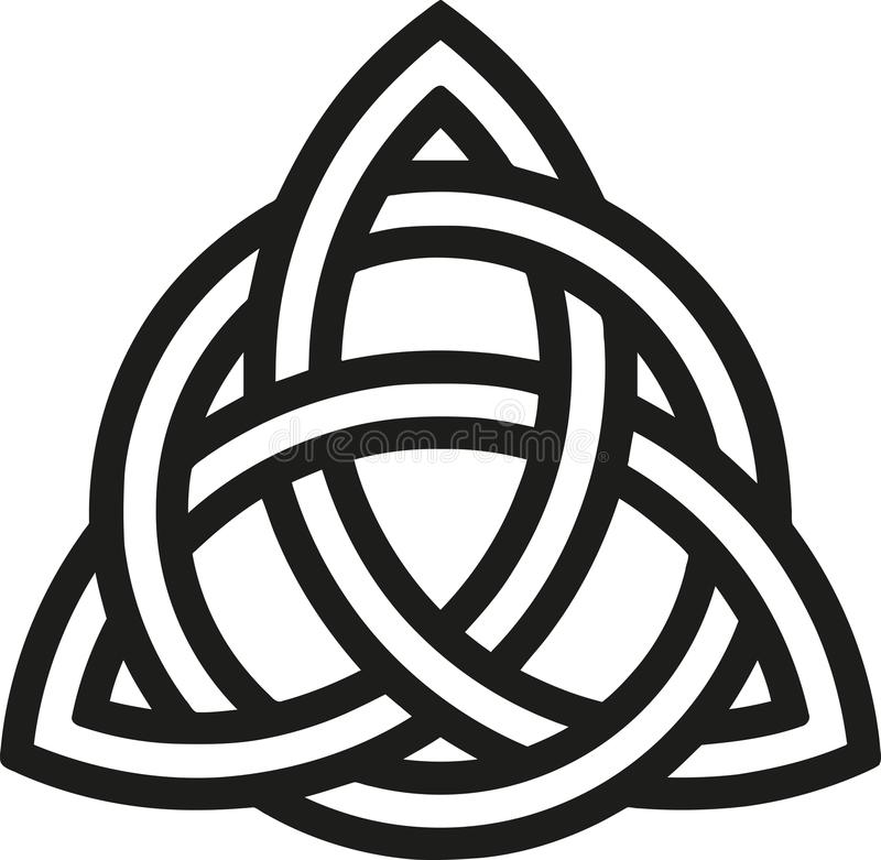 Celtic knot with outlines stock illustration