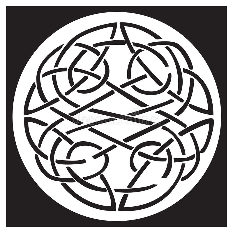 A celtic knot and pattern in a circle design royalty free illustration