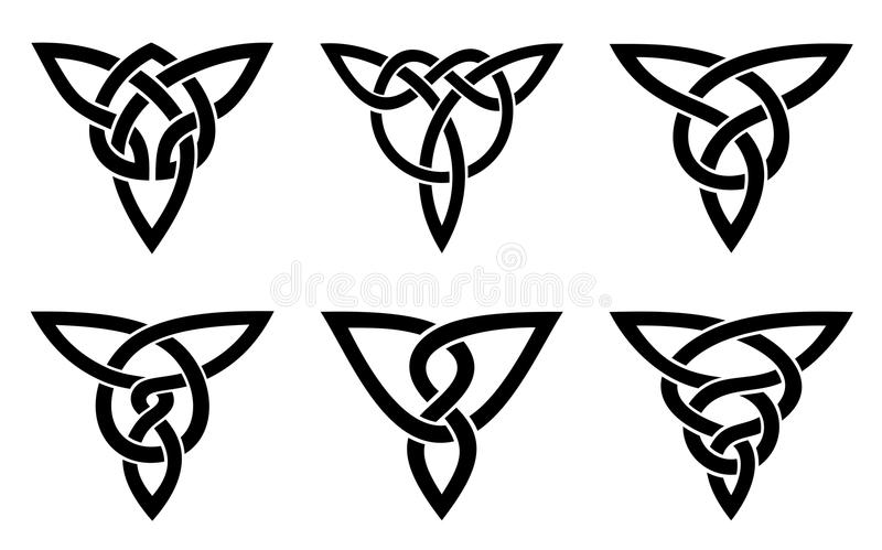 Celtic knot set stock photo