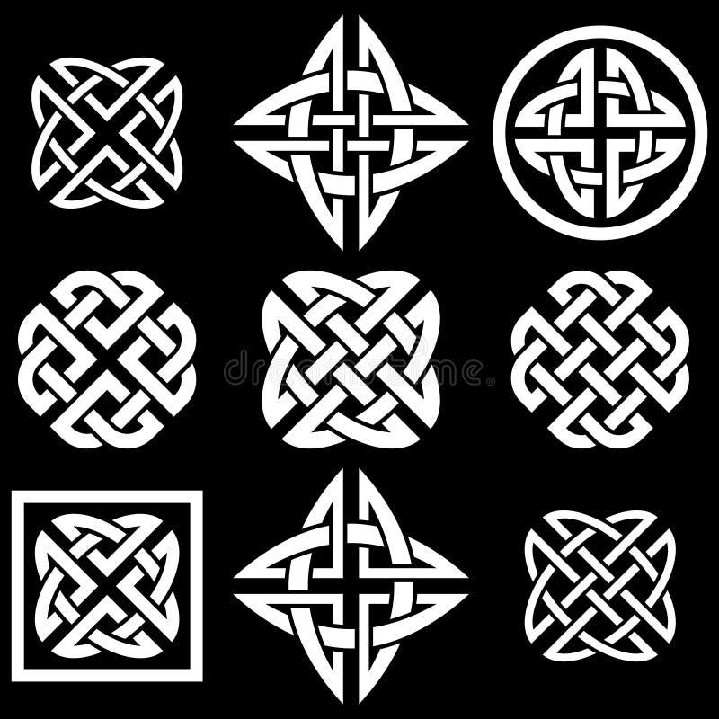 Celtic knotet Sammlung lizenzfreie abbildung