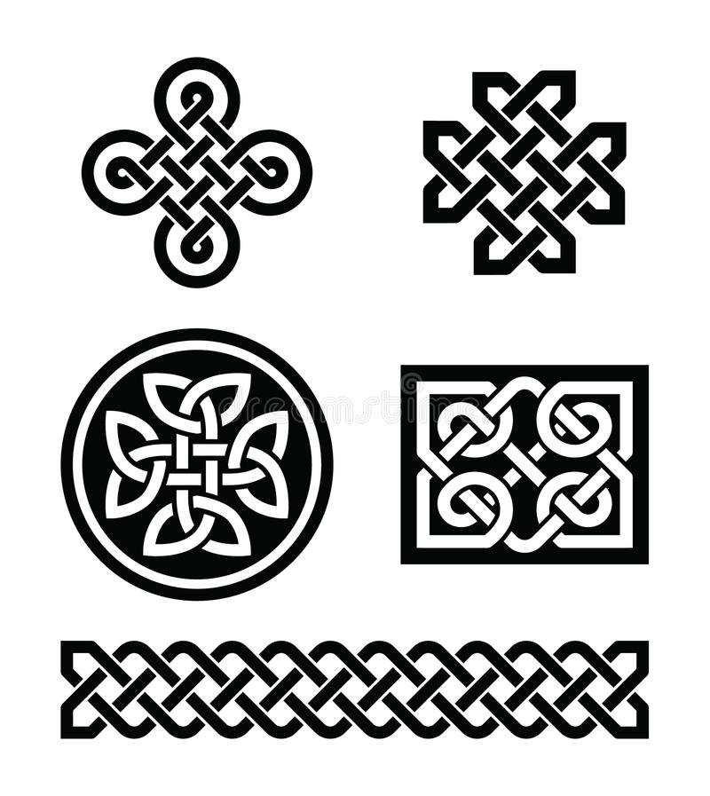 Download Celtic knots patterns - stock illustration. Image of icon - 28787105