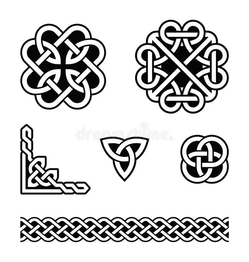Celtic knots patterns - royalty free illustration