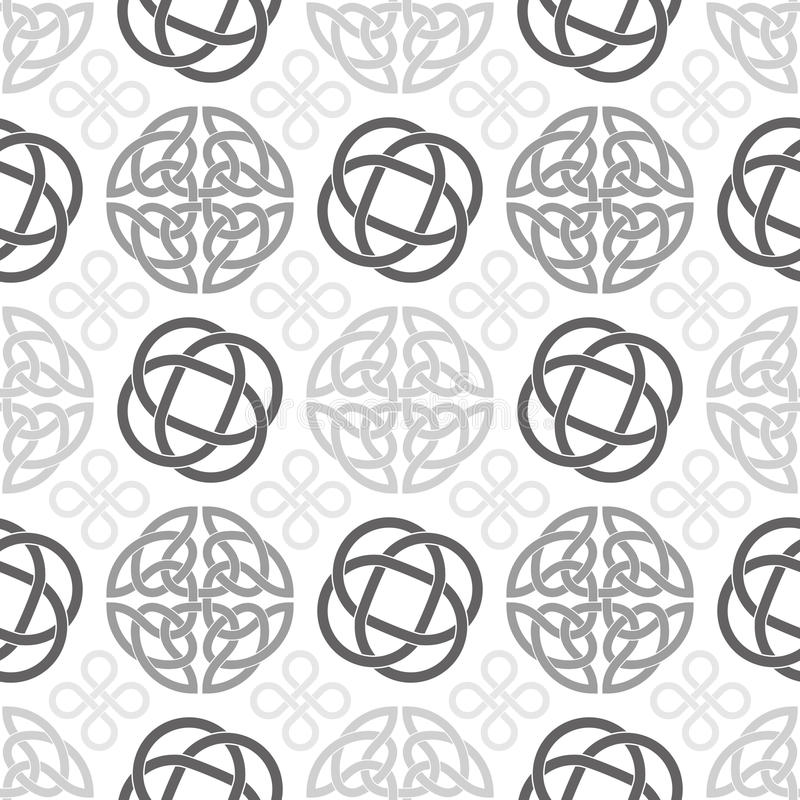 Celtic Knots Seamless Wallpaper Pattern Stock Vector Illustration
