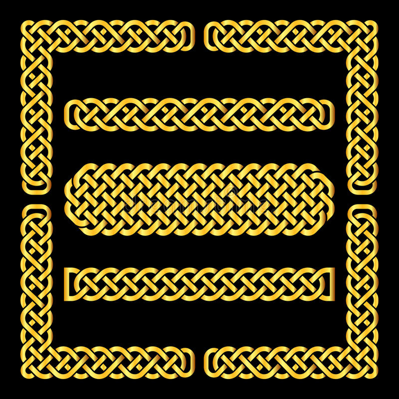 Celtic knots vector borders and corner elements stock vector download celtic knots vector borders and corner elements stock vector illustration of handcarves medieval yadclub Images