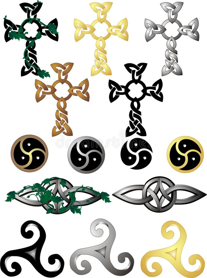 celtic knyter symboler stock illustrationer