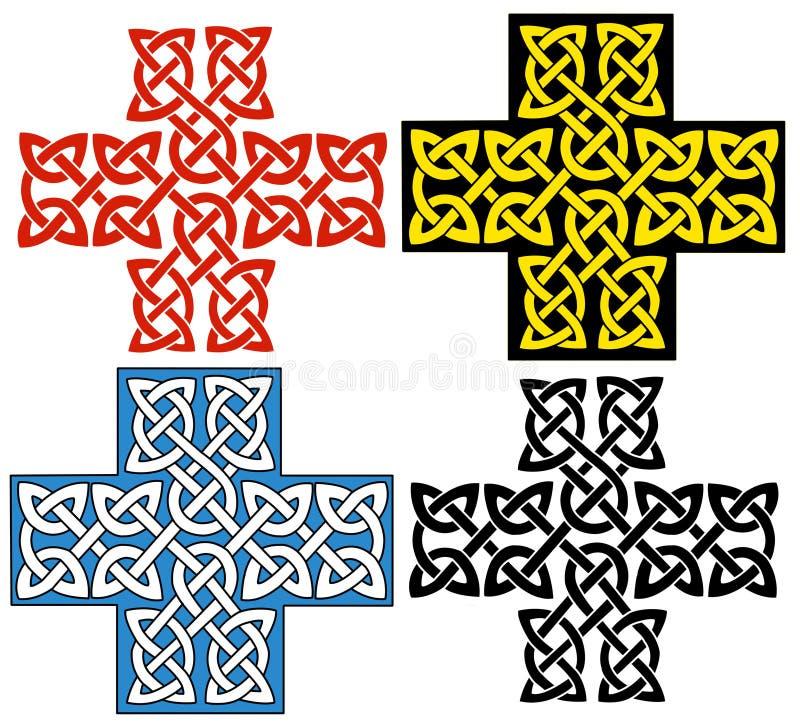 celtic kors vektor illustrationer