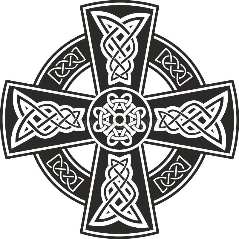 celtic kors royaltyfri illustrationer