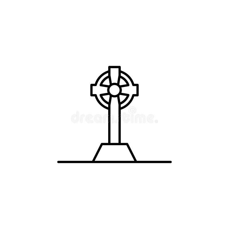 celtic kors, dödöversiktssymbol detaljerad uppsättning av dödillustrationsymboler Kan anv?ndas f?r reng?ringsduken, logoen, den m vektor illustrationer