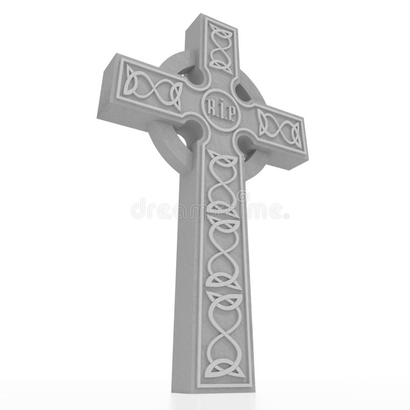 celtic kors 3D på vit bakgrund vektor illustrationer