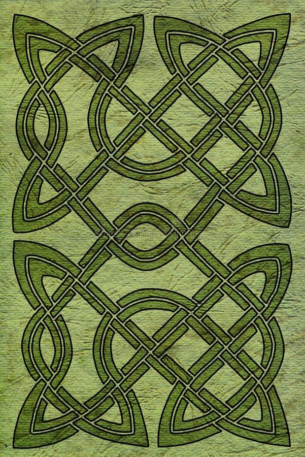 Celtic kort eller bokomslag royaltyfri illustrationer