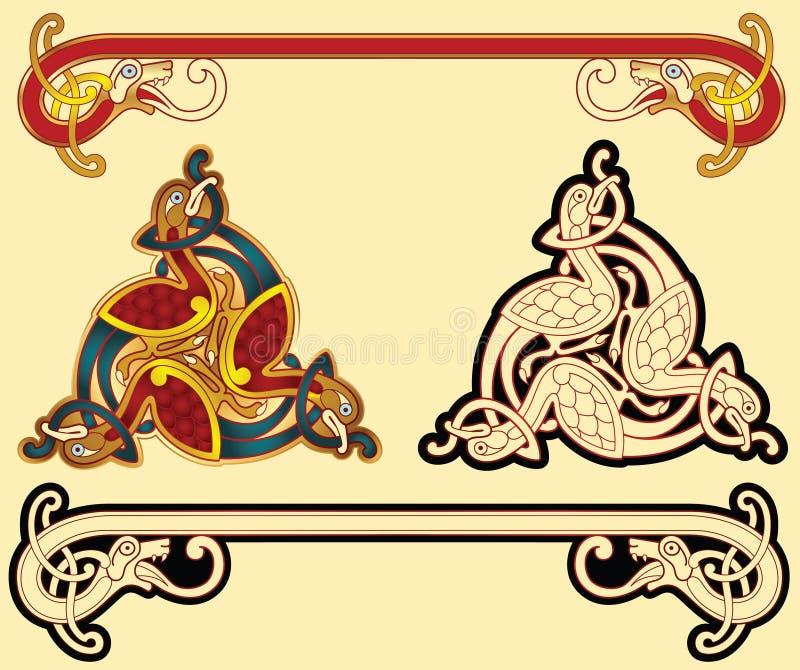 Celtic motifs stock illustration