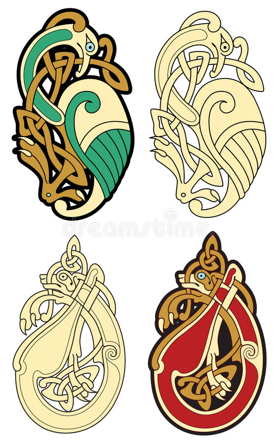celtic motiv stock illustrationer