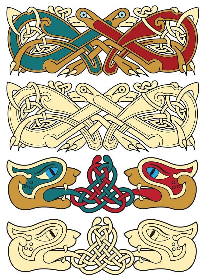 celtic motiv royaltyfri illustrationer